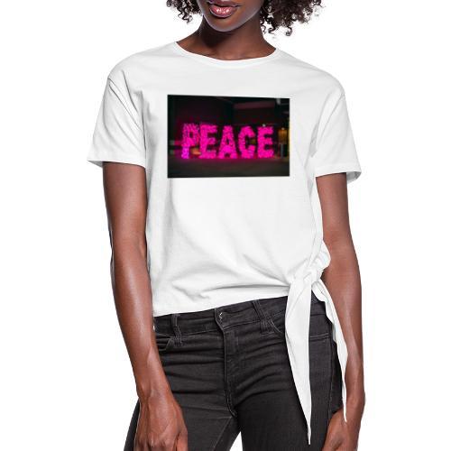 paz - Camiseta con nudo mujer