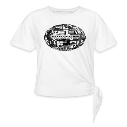 trancenation - T-shirt med knut dam