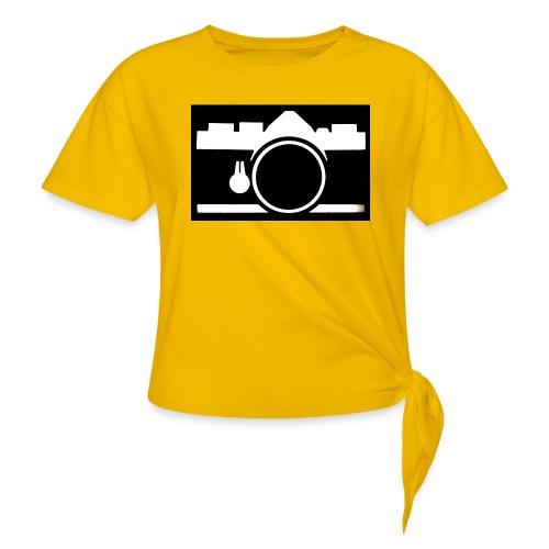 Vintage Camera - Maglietta annodata da donna