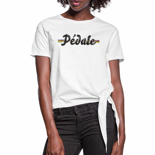 pedale wk - Vrouwen Geknoopt shirt