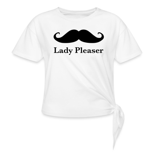 Lady Pleaser T-Shirt in Green - Knotted T-Shirt