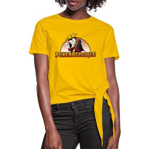 Logo Poker Belgique - T-shirt à nœud Femme