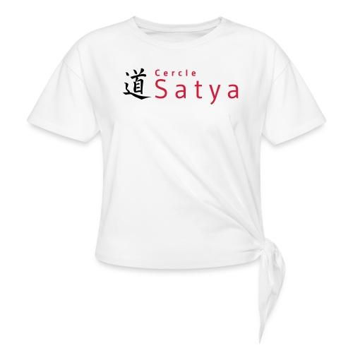 logo inline - T-shirt à nœud