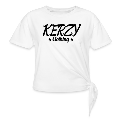 Official KerzyClothing T-Shirt Black Edition - Knotted T-Shirt