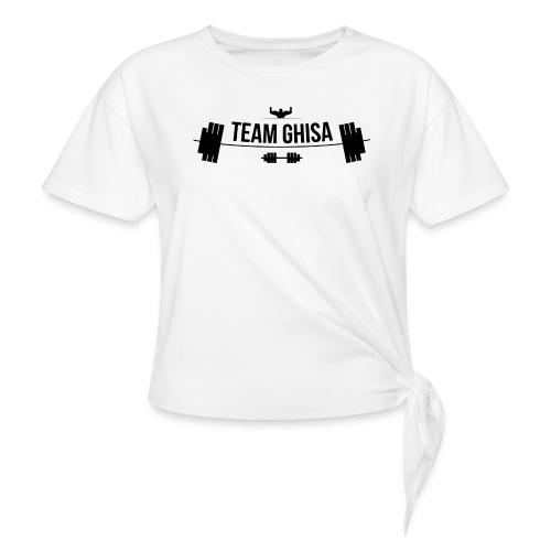 TEAMGHISALOGO - Maglietta annodata da donna