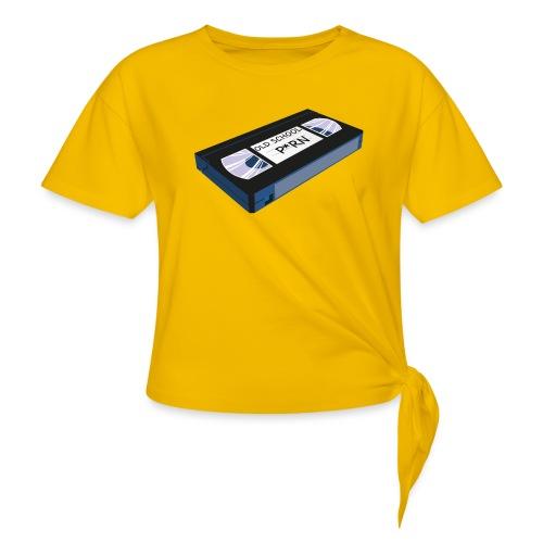 OLD SCHOOL P * RN vhs - T-shirt à nœud Femme