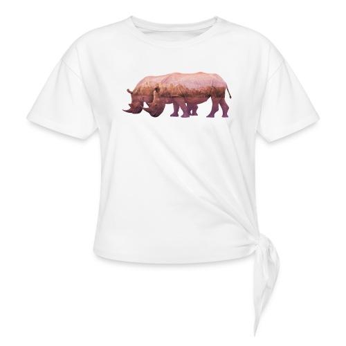 Nashorn Alpen - Knotenshirt