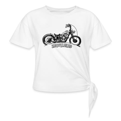 0917 chopper shovelhead - Vrouwen Geknoopt shirt