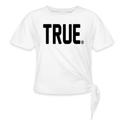 truesc - T-shirt med knut dam
