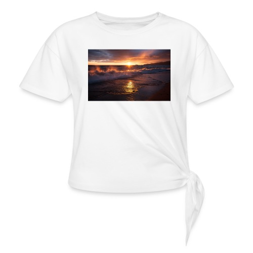 Magic sunset - Camiseta con nudo mujer