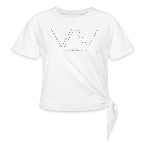 Designed by Filip Plonski - Women's Knotted T-Shirt