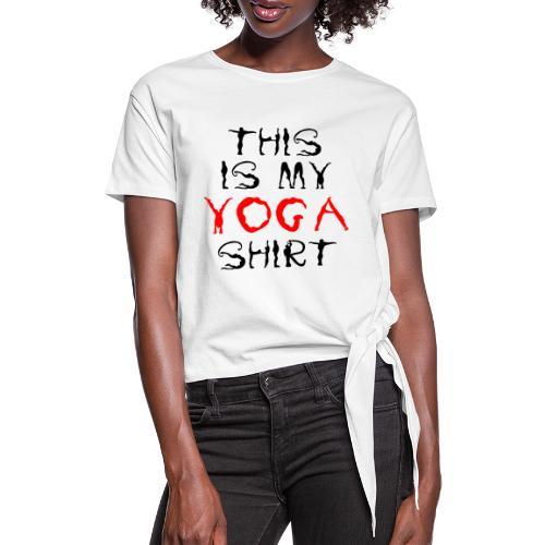 camicia yoga sport namaste spiritualità pace amore - Maglietta annodata da donna