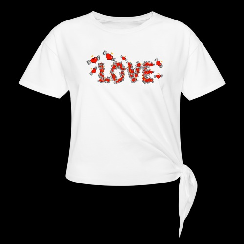 Flying Hearts LOVE - Knotted T-Shirt