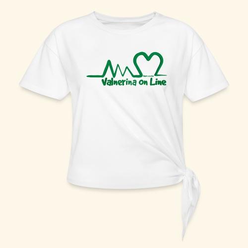 logo verde Associazione Valnerina On line - Maglietta annodata