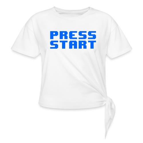 Press Start - Maglietta annodata