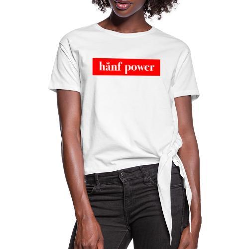 Hanf Power RED - Frauen Knotenshirt