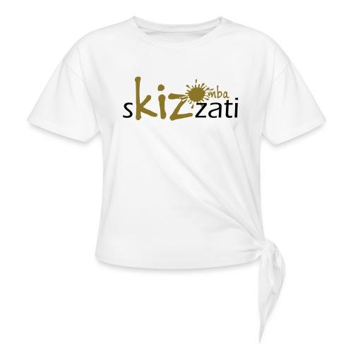 Beanie in jersey con logo sKizzati Kizomba - Verde - Maglietta annodata
