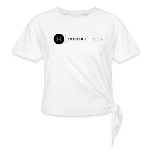 Linne med svart logotyp - T-shirt med knut dam