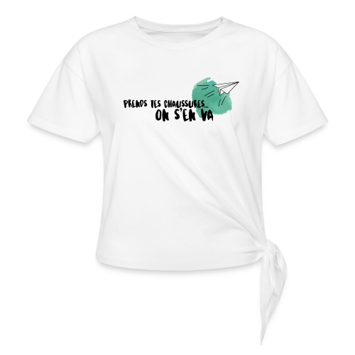 test - T-shirt à nœud Femme