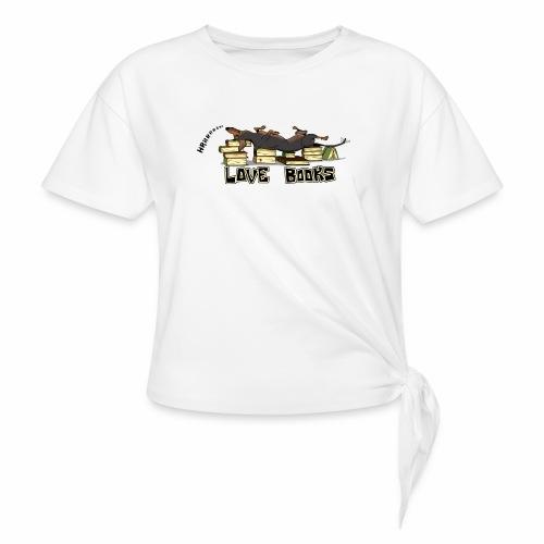 Love books - Koszulka z wiązaniem