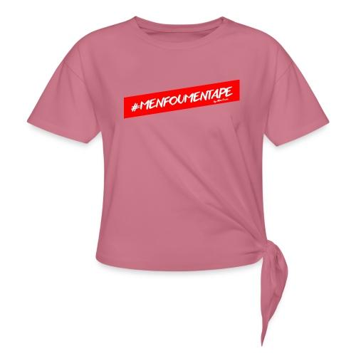 MENFOUMENTAPE Hashtag by Alice Kara - T-shirt à nœud