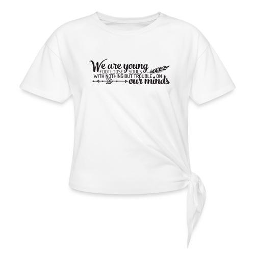 FOOTLOOSE SOULS - T-shirt à nœud