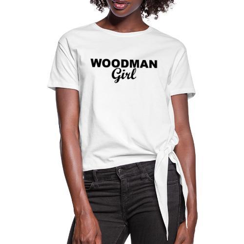 WOODMAN Girl, black - Frauen Knotenshirt