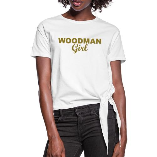 WOODMAN Girl, gold - Frauen Knotenshirt