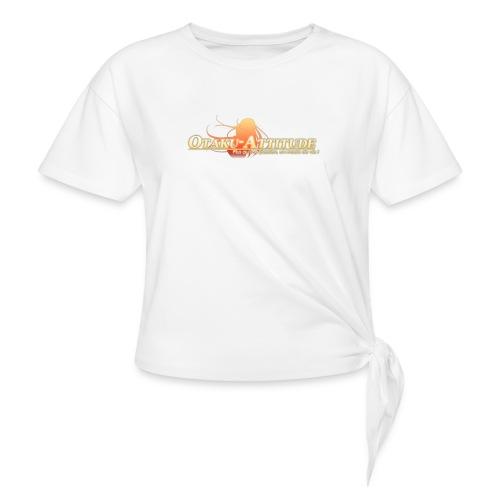 logo oa v3 v1 fond clair - T-shirt à nœud Femme