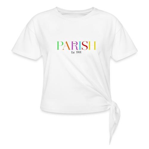 Jessica Parish Color-Schriftzug - Frauen Knotenshirt