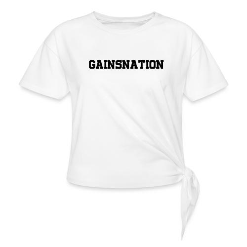 Kortärmad tröja Gainsnation - T-shirt med knut