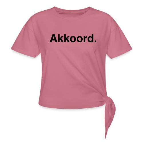 Akkoord - Vrouwen Geknoopt shirt