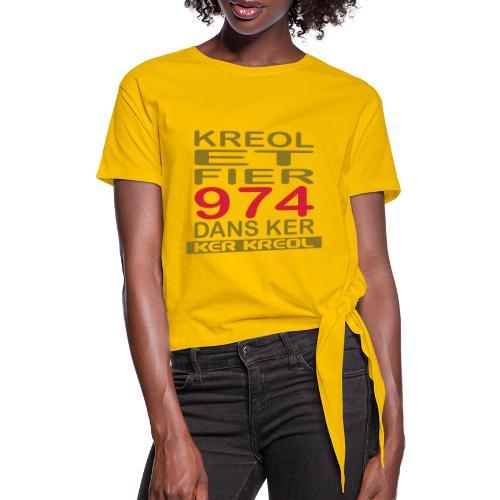 fier et kreol hom 02 ti - T-shirt à nœud