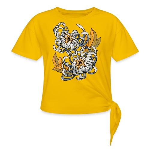 Chrysanthèmes enlacés - T-shirt à nœud Femme