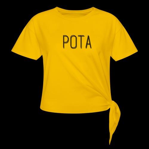 pota2 - Maglietta annodata da donna