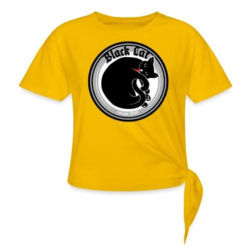 Black Cat - Knotenshirt