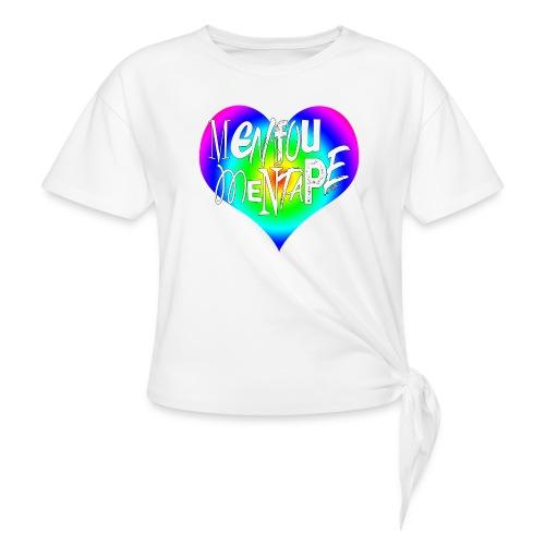 MENFOUMENTAPE Arc en ciel by Alice Kara - T-shirt à nœud