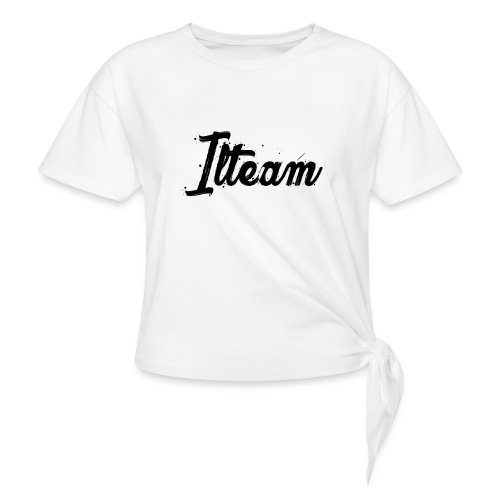 Ilteam Black and White - T-shirt à nœud Femme