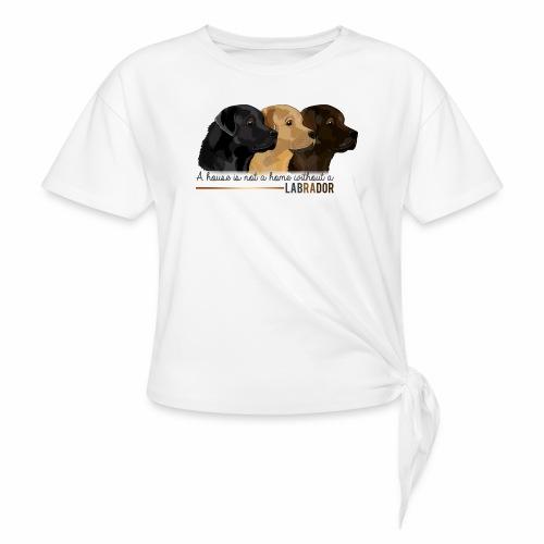 Labrador - T-shirt à nœud Femme