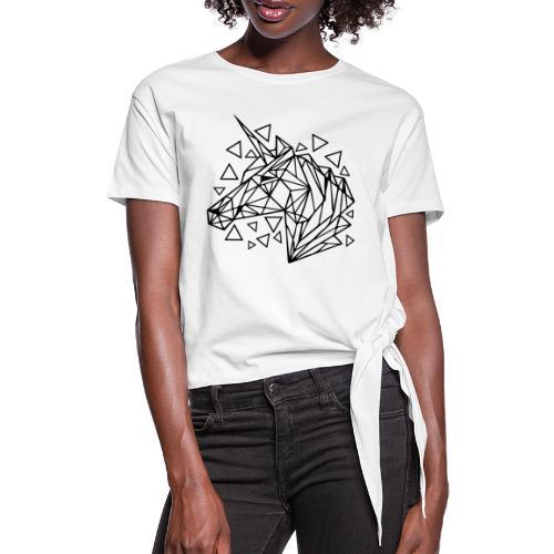 unicornio minimalista - Camiseta con nudo mujer