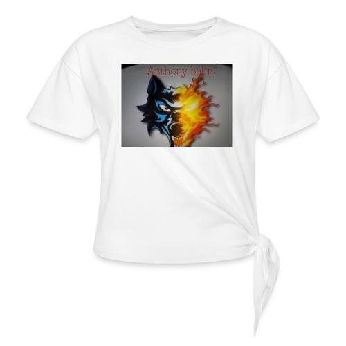 E44A4C12 938F 44EE 9F52 2551729D828D - T-shirt à nœud Femme