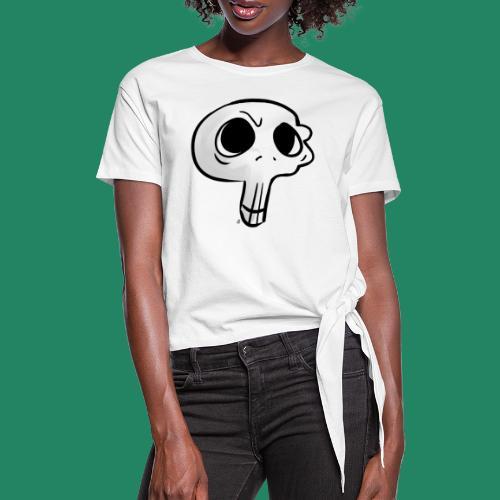 Skull - T-shirt à nœud Femme