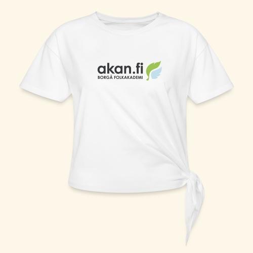 Akan Black - T-shirt med knut