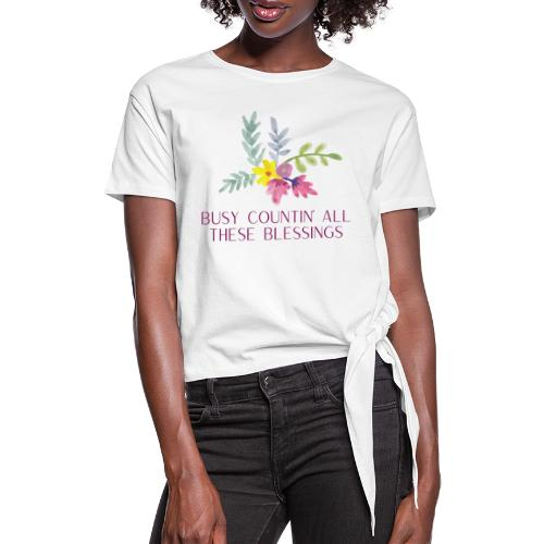 BLESSINGS - Frauen Knotenshirt