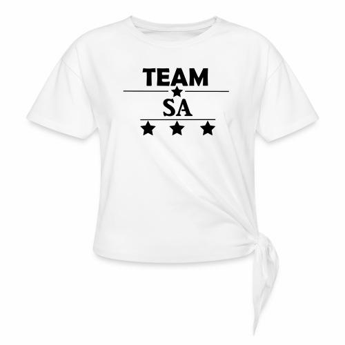 Team SA Logo - T-shirt med knut dam