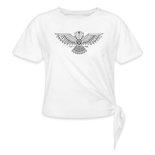 Grafische uil - Geknoopt shirt