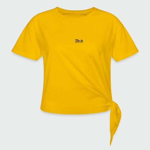 flolo durchgestrichen - Frauen Knotenshirt