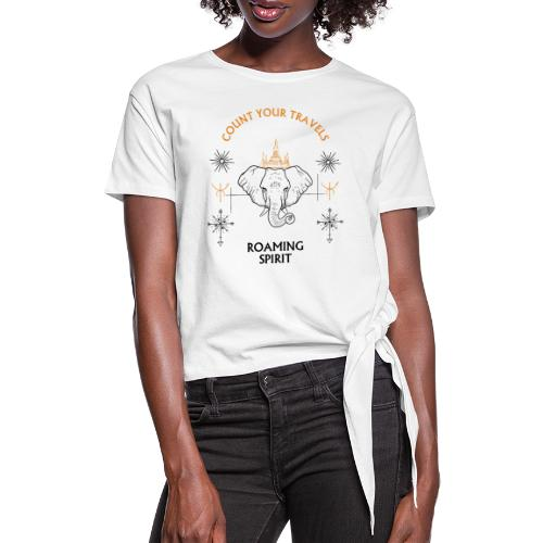 ROAMING SPIRIT travel tees - Women's Knotted T-Shirt