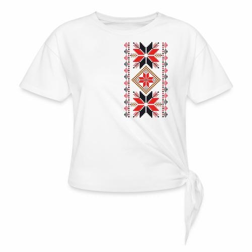 Ornament ludowy - Koszulka z wiązaniem