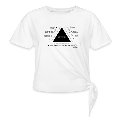 TRIANGLE D'EXPOSITION - T-shirt à nœud Femme